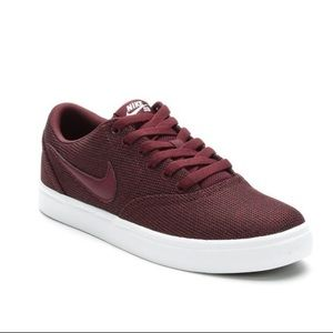 Maroon Nike SB Check Solarsoft Womens Sneakers